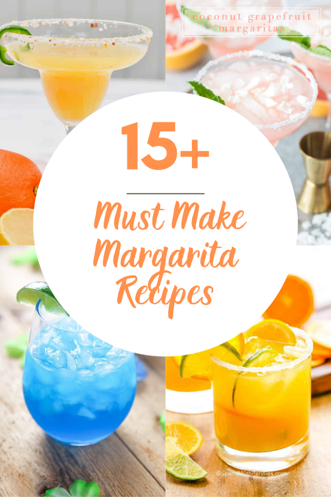 Must Make Margarita Recipes colorful margarita drinks