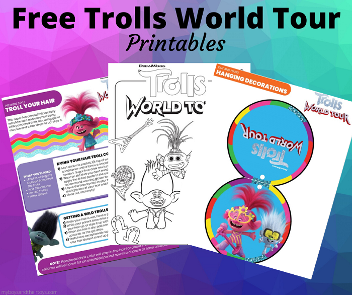 trolls world tour printables