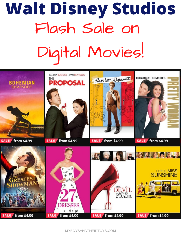 digital movies sale