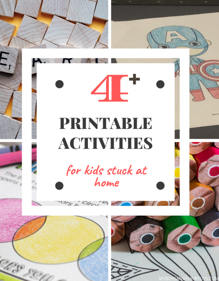printable activities for kids collage