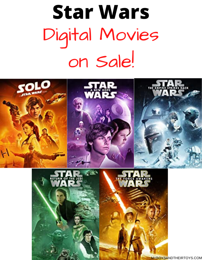 star wars digital movies sale