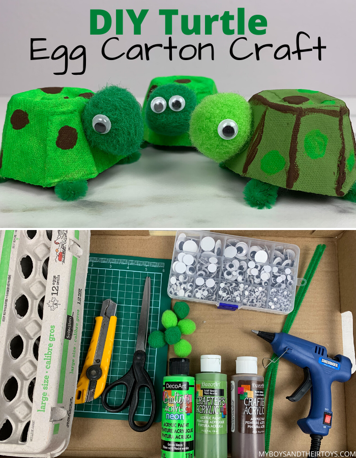 turtle egg carton craft and supplies