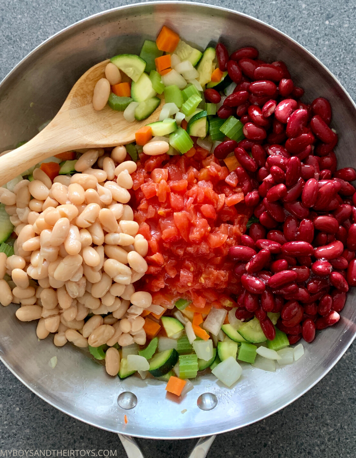 Minestrone Soup Recipe beans and veggies