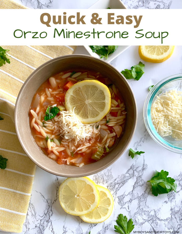 quick orzo minestrone soup
