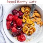 caramelized mixed berry oats