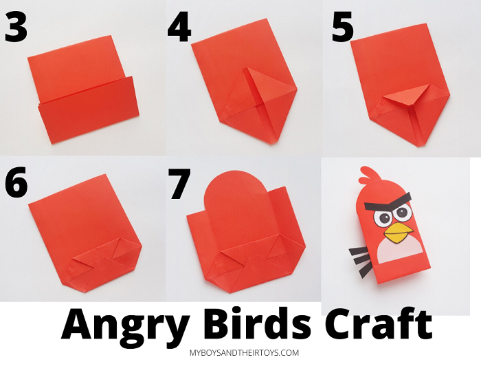 Angry Birds craft steps