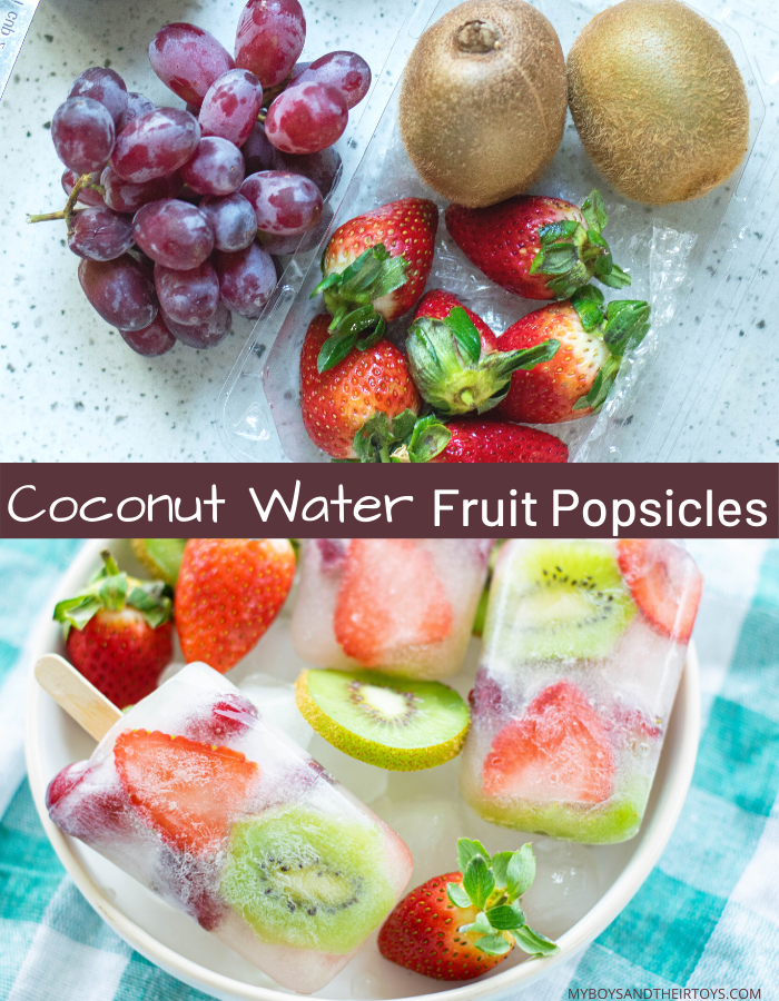 coconut water fruit popsicles