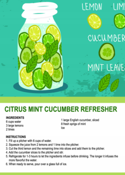 citrus cucumber mint recipe