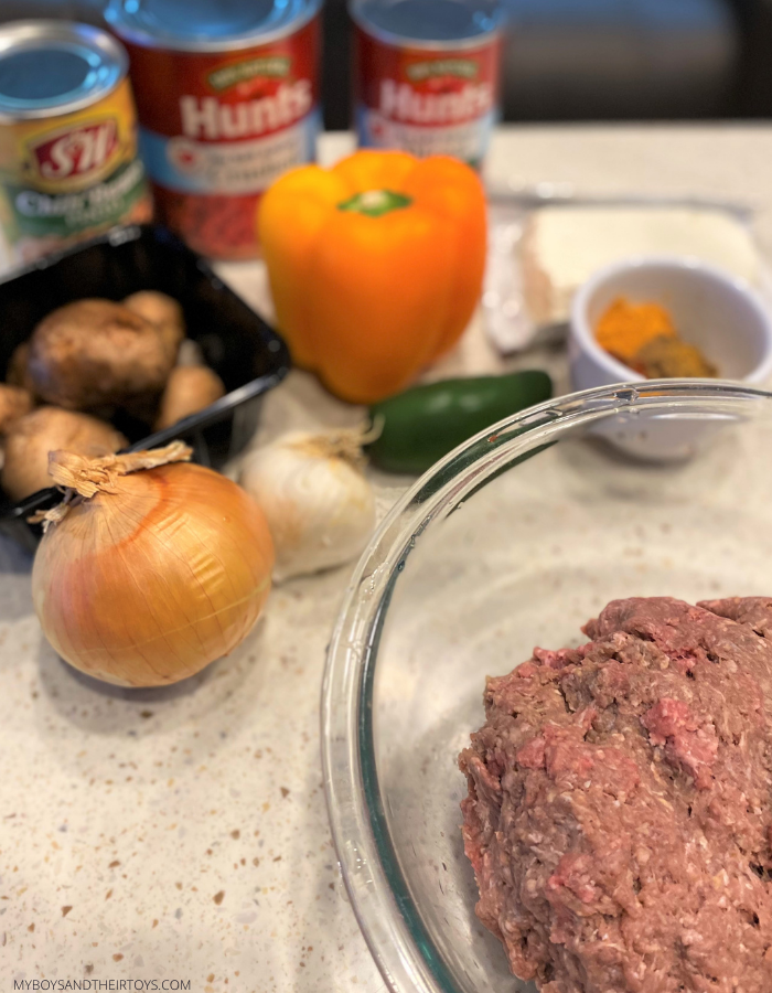 spicy beef chili ingredients