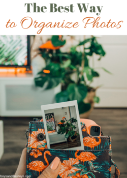 the best way to organize photos