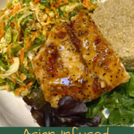 asian inspired cod fish and slaw