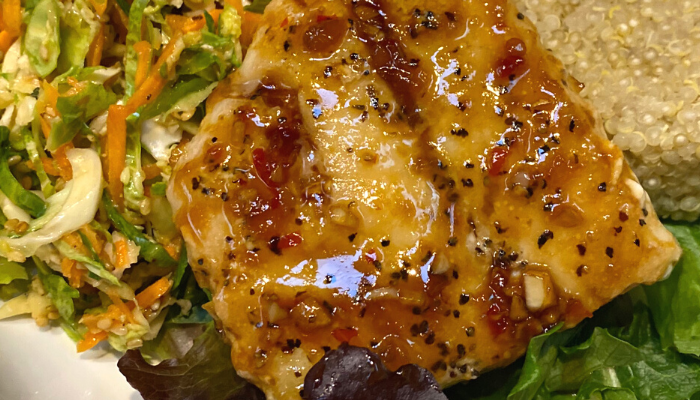 Asian Infused Cod Fish Recipe with Slaw