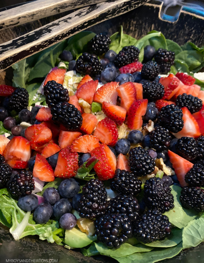 spinach salad with berries
